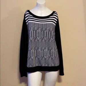 Black and white Banana Republic sweater